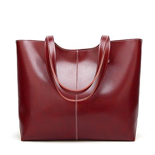 Mujeres Shishanyun Viento color Size Suave Moda Cuero Gran Inclinado Diseño De Capacidad Bolso M Grande Femenino Las Red Red Retro qrwpcytRr