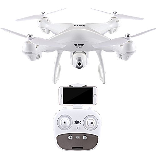 Rtf Electric Coaxial Micro Helicopter - S70W 2.4GHz GPS FPV Drone Quadcopter with 1080P HD Camera WiFi Headless Mode Headless Mode & One Key Return & 3D Flips RC Quadcopter by PSFS (White)