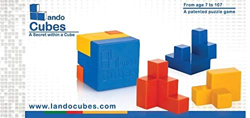 Brain Teaser 3D Jigsaw Puzzle Lando Cubes Set Game for Kids and Teens