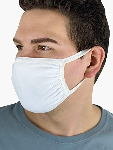 Fruit of the Loom Reusable Cotton Face Mask (Packs of 50, 100, 250)