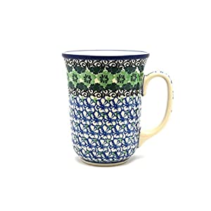 Polish Pottery Bistro Mug – 16 Oz – Kiwi – Ceramika Artystyczna