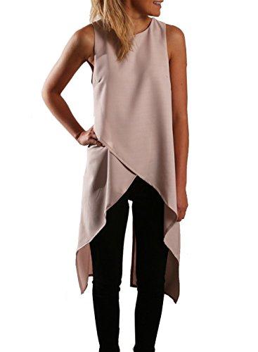Relipop Chiffon Sleeveless Fashion Asymmetric