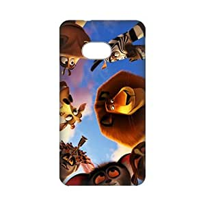 3D Printing Personalized Design of Animated Film-Madagascar by DreamWorks Background Fitted Hard Case Cover for HTC ONE M7- Cell Phone Accessories