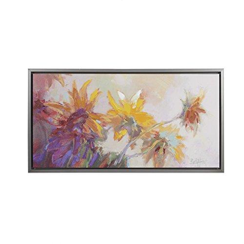 Sunflowers Framed Flowers Floral Canvas Wall Art 16.6X31.6, Wall Décor ()