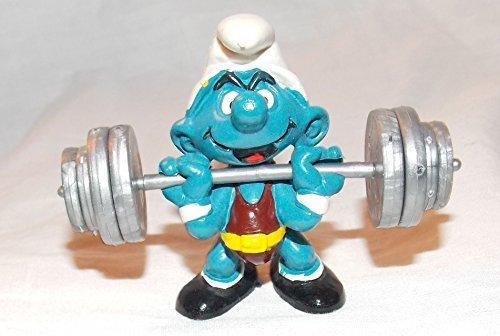 (1980 Vintage Super Smurfs Weightlifter Smurf 2