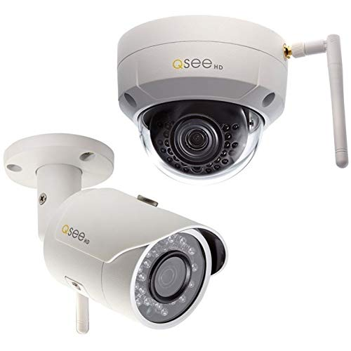 Q-See QCW3MP1B16-2 3MP/1080p High Definition Wi-Fi Bullet Security Camera 2-Pack, with 16GB SD Cards Included