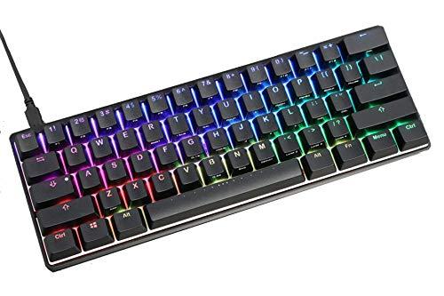 (Mechanical Gaming Keyboard Vortexgear Pok3r 60%, ABS Double Shot Translucent Keycaps, RGB LED Backlit, 61 Keys (Aluminium CNC Casing) (Cherry Mx Silent Red))