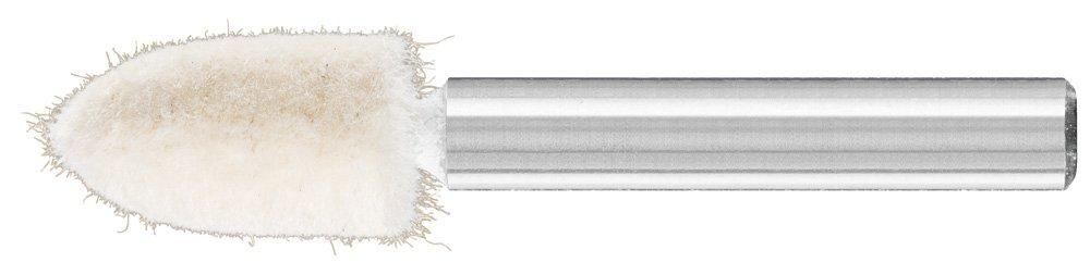 PFERD 48572 Conical Felt Point, Shape SPK, 3/8'' Diameter x 3/4'' Length, 1/4'' Shank Diameter x 1-5/8'' Shank Length, 47500 Max RPM (Pack of 10)