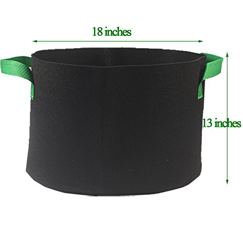 Casolly Grow Bag/Aeration Fabric Plant Pots with Green Handles for Plants,15-Gallon 6-Bag by Casolly (Image #1)