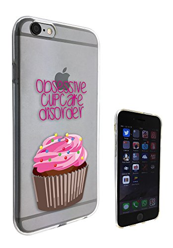 c0163 - Obsessive Cupcake Disorder Design Pour iphone 5C Protecteur Coque Gel Rubber Silicone protection Case Coque