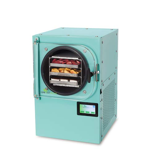 Harvest Right Freeze Dryer - The Best Way to Preserve Food - Food Dehydrator, Small Size, Aqua Color
