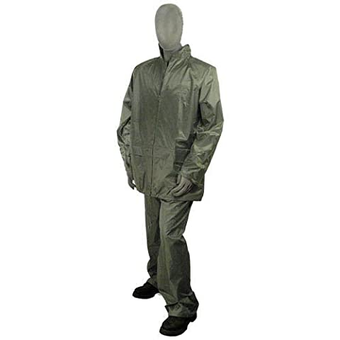 AM Leonard Premium PVC-Coated Polyester 2-Piece Rainsuits, Green - X-Large (Premium Pvc)