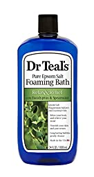 Dr. Teal\'s Foaming Bath (Epsom Salt), Eucalyptus Spearmint, 34 Fluid Ounce