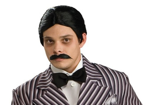 Adult Deluxe Gomez Addams Wig and Moustache Set