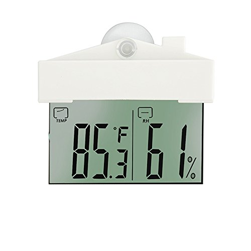 Wall Mount Temperature and Humidity Monitor Large Digital Temperature Gauge Window Thermometer Hygrometer, Indoor Humidity Meter with Clear Display Screen, 1 Decor Butterfly by FullHappy