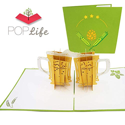 PopLife Craft Beer 3D Pop Up Card for All Occasions - Happy Anniversary Pop Up Father