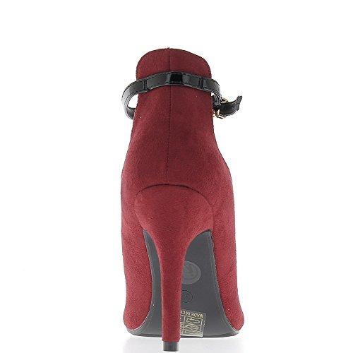 Stivali bassi rosso di fine 10,5 cm tacco puntata