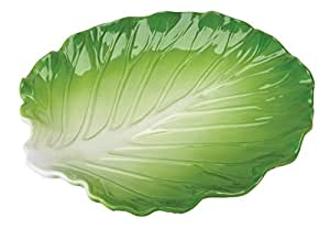 Green Ceramic Cabbage Serving Platter