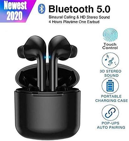 2020 Écouteurs Bluetooth, Écouteurs sans Fil Bluetooth 5.0 avec étui de Chargement Portable, Mic HD Intégré et Son 3D Stéréo, 24hrs Playtime, pour
