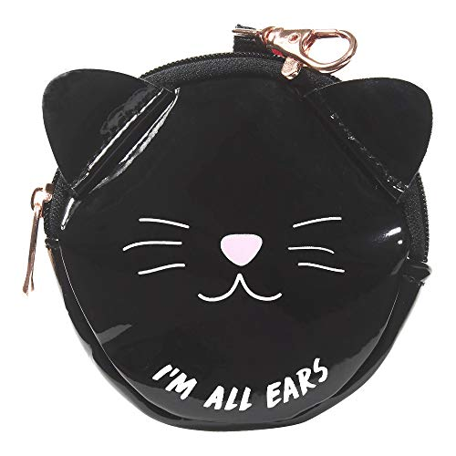 Price comparison product image Miamica Women's Black Cat Earbud Case,  I'm All Ears