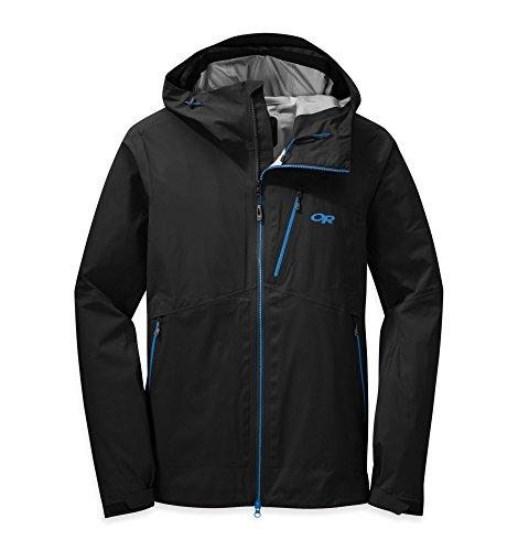 Outdoor Research Men's Axiom Jacket Black / Tahoe XL & Knit Cap Bundle