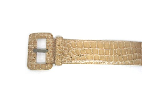Beautiful Highest Quality Crocodile Reptile Skin Embossed Faux Leather Belt (Faux Crocodile Belt)