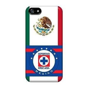 New Premium Flip Case Cover Cruz Azul Mexico Skin Case For Iphone 5/5s