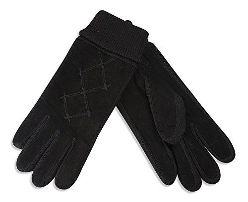 比類のない考えた高音Quivanoレディーススエードレザー手袋with Thinsulate裏地& Elasticated Cuff # 336 – 200
