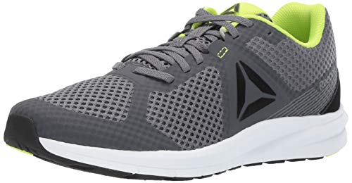 Reebok Men's Endless Road Running Shoe, Cold Grey/Black/neon Lime/White, 8 M US