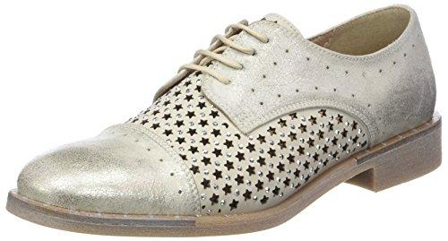 Ghiaccio Donna para Cordones Oxford Zapatos de Ave PIU Argent 003 Mujer Osso 4xwHq4Ovc1