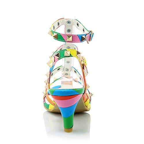Fashion Heel - Zapatos de tacón  mujer arcoíris