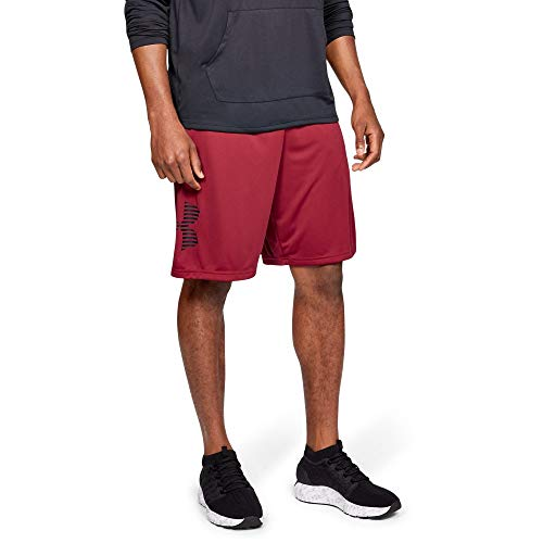 - Under Armour Tech Graphic Novelty Shorts, Aruba Red//Black, X-Large