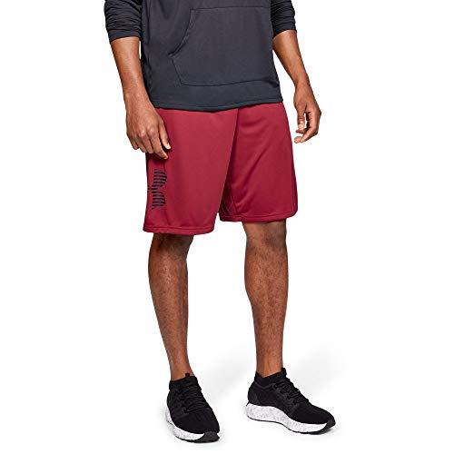 Under Armour Tech Graphic Novelty Shorts, Aruba Red//Black, Medium (Under Armour Mens Shorts)