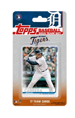 Detroit Tigers 2019 Topps Factory Sealed Special Edition 17 Card Team Set with Miguel Cabrera - Tigers Detroit Team