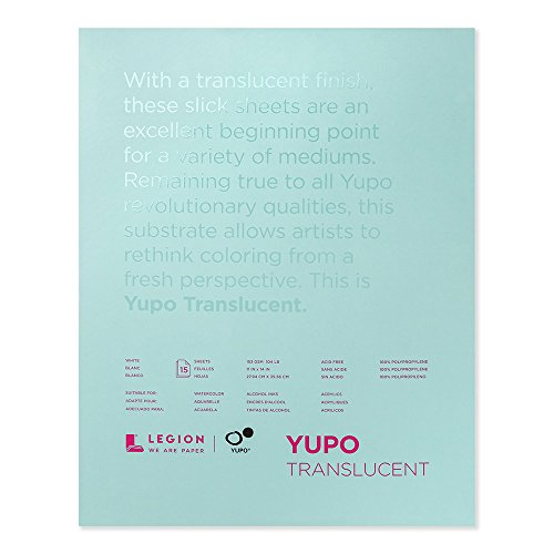 Yupo Polypropylene Pad Translucent 104# 11X14 (PACKAGING MAY VARY)