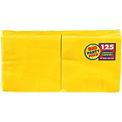 Big Party PackSunshine Yellow Luncheon Napkins| Pack of 125 | Party Supply: Toys & Games