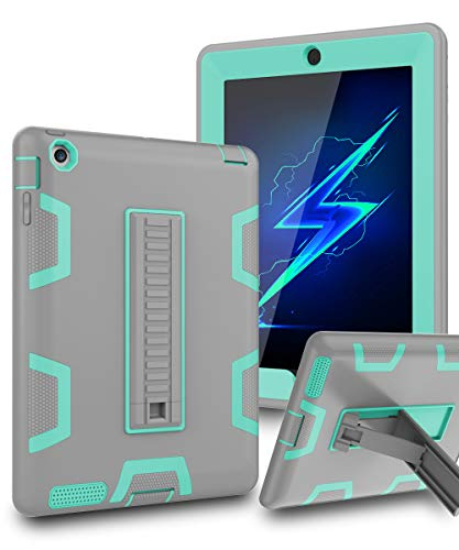 TOPSKY iPad 2 Case,iPad 3 Case,iPad 4 Case,iPad 2/3/4 Kids Proof Case,Heavy Duty Shockproof Rugged Kickstand Protective Cover Case for iPad 2nd/3rd/4th Generation Retina(A1416/A1458) Grey Green