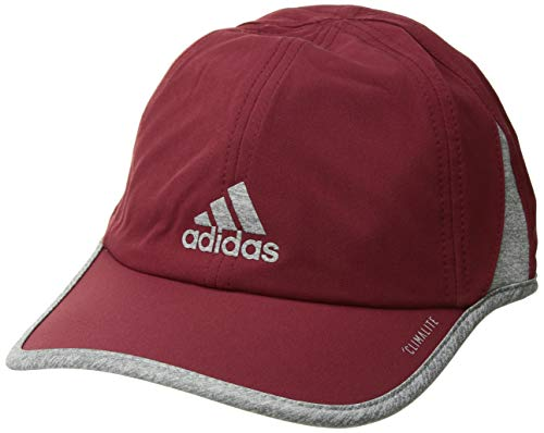 adidas Men's Superlite Relaxed Adjustable Performance Cap, Noble Maroon/Light Heather Grey, One Size ()