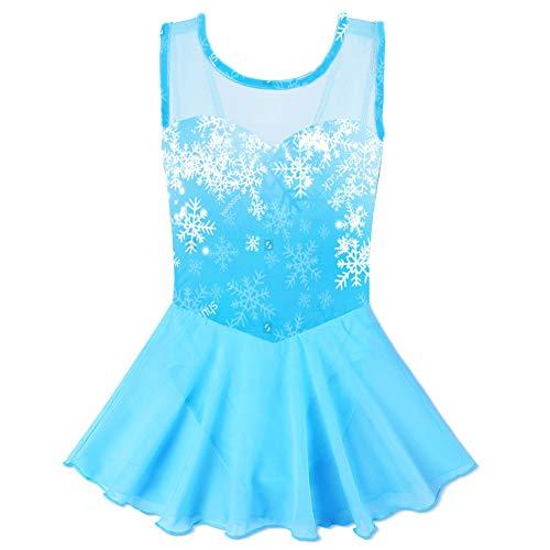 BAOHULU Toddlers Dancing Cosplay Tutu Ballet Leotard for Girls 3-12 Years (Cerulean Blue, 6-8 Years) ()