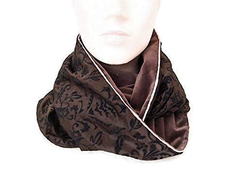 grande variété de styles bon ajustement remise pour vente echarpe snood femme marron velours baroque, tour de cou ...