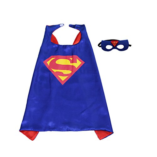 Superhero Cape and Mask Set Kids Children Costumes for Halloween Christmas Birthday Party (Super Simple Halloween Costumes)