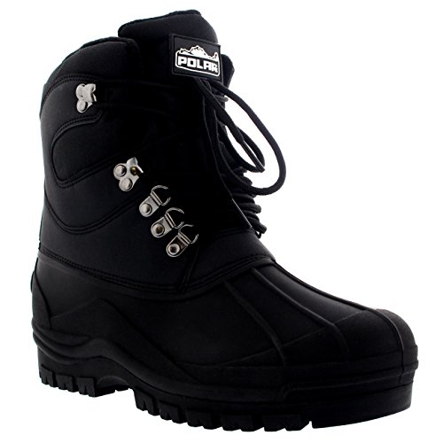 Duck Waterproof Mens Hiker Bean Boots Hiking Ankle Walking Black Snow Short 5ASqwSPE
