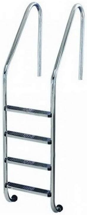 Escalera Modelo Standar Peldaño Antideslizante de Flexinox - AISI 304 - 87112942 - 4 Peldaños: Amazon.es: Hogar