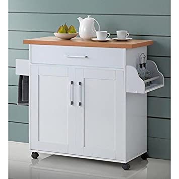Amazon.com - Portable Table Storage Mobile Utility Cabinet Kitchen ...