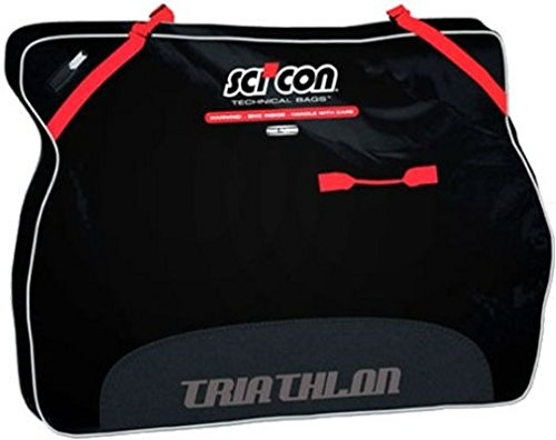 SCICON Travel Plus Triathlon Bike Travel Case Black Safe Bicycle Travel Bag