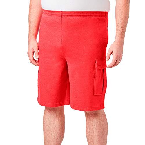 KingSize Men's Big & Tall Lightweight Cargo Shorts, Heather Red Apple Tall-4Xl