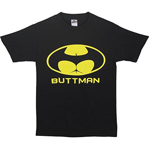 Buttman Mens T Shirt Parody Funny Booty Tee (3XL, -