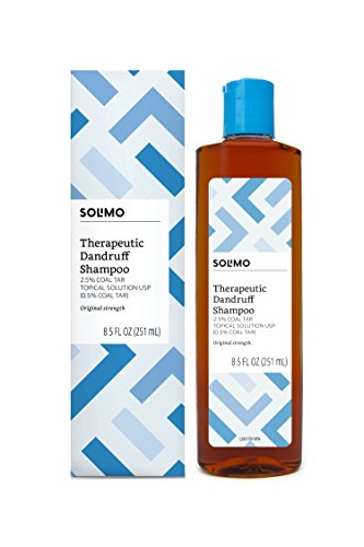 Amazon Brand - Solimo Therapeutic Dandruff Shampoo, Original Strength, 8.5 Fluid Ounces