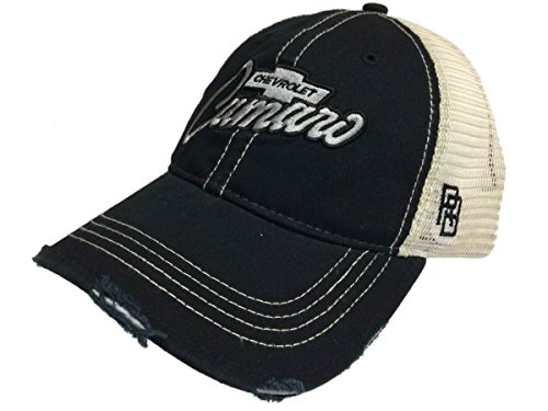 Chevrolet Chevy Camaro Retro Brand Mesh Adjustable Snapback Trucker Hat Cap