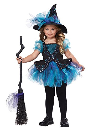 [California Costumes Darling Little Witch Costume, One Color, 3-4/Medium] (Halloween Witch Costumes Kids)